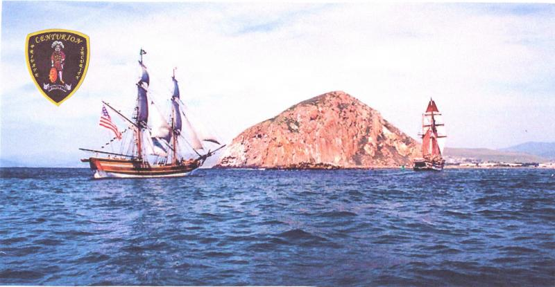 Tall Ships pass by Morro Rock (Morro Bay, CA)