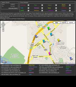 SLO CRIME MAP
